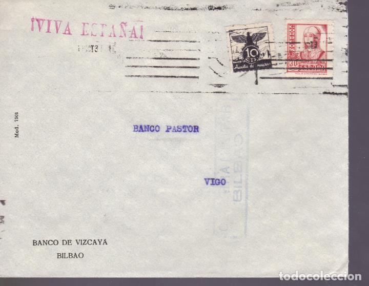 CM2-61- GUERRA CIVIL. CARTA BILBAO- VIGO . 1937. LOCAL, . CENSURA (Sellos - España - Guerra Civil - De 1.936 a 1.939 - Cartas)