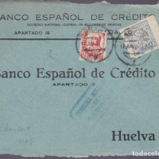 Sellos: CM2-33- GUERRA CIVIL.FRONTAL BADAJOZ 1937. LOCAL Y CENSURA . Lote 161000562