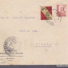 Sellos: CM2-27- GUERRA CIVIL.FRONTAL GRANADA - HUELVA 1937 .LOCAL Y CENSURA . Lote 161000946