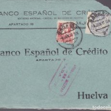 Sellos: CM2-26- GUERRA CIVIL.FRONTAL BADAJOZ - HUELVA 1937 .LOCAL Y CENSURA . Lote 161001078