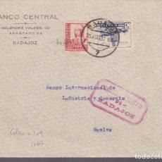Sellos: CM2-25- GUERRA CIVIL.FRONTAL BADAJOZ - HUELVA 1937 .LOCAL Y CENSURA . Lote 161001646