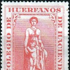 Sellos: COLEGIO DE HUERFANOS DE HACIENDA . 1 PESETA. SIN PIE DE IMPRENTA, NUEVO SIN GOMA **MNG. Lote 161001738