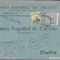 Sellos: CM2-23- GUERRA CIVIL.FRONTAL BADAJOZ - HUELVA 1937 .LOCAL Y CENSURA . Lote 161001850