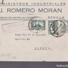 Sellos: CM2-14- GUERRA CIVIL.FRONTAL SEVILLA 1937 .LOCAL Y CENSURA . Lote 161002722