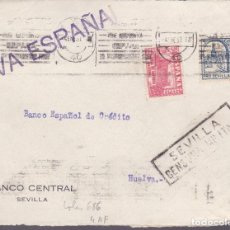 Sellos: CM2-12- GUERRA CIVIL.FRONTAL SEVILLA 1937 .LOCAL Y CENSURA . Lote 161002822