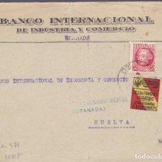 Sellos: CM2-7- GUERRA CIVIL.FRONTAL GRANADA- HUELVA 1937. LOCAL Y CENSURA . Lote 161003234