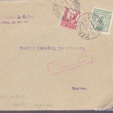 Sellos: CM2-7- GUERRA CIVIL.FRONTAL MERIDA - HUELVA 1937. LOCAL Y CENSURA . Lote 161003546