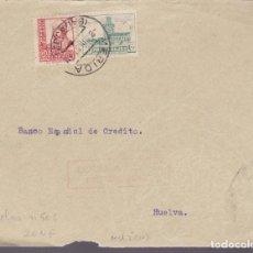 Sellos: CM2-7- GUERRA CIVIL.FRONTAL MERIDA - HUELVA 1937. LOCAL Y CENSURA . Lote 161003618