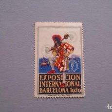 Sellos: 1929 - VIÑETA - EXPOSICION INTERNACIONAL DE BARCELONA 1929 - MNH** - NUEVO - CENTRADO. Lote 161009522