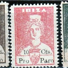 Sellos: IBIZA (ISLAS BALEARES). 1936. GUERRA CIVIL,DIOSA TANIT .SELLOS LOCALES . **.,MNH. Lote 161122890