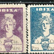 Sellos: IBIZA (ISLAS BALEARES). 1936. GUERRA CIVIL,DIOSA TANIT .SELLOS LOCALES . **.,MNH. Lote 161123070