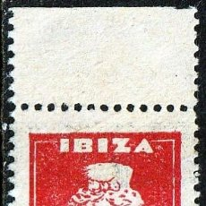 Sellos: IBIZA (I BALEARES)1936. GUERRA CIVIL,DIOSA TANIT SELLOS LOCALES .PAREJA VERTICAL ROJO.10 PTS **.,MNH. Lote 161126458