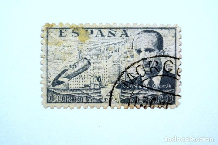SELLO POSTAL ESPAÑA 1939, 4 PTS, JUAN DE LA CIERVA, USADO (Sellos - España - Guerra Civil - De 1.936 a 1.939 - Usados)