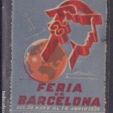Timbres: SS42- VIÑETA FERIA BARCELONA 1936 ** SIN FIJASELLOS. Lote 161550578