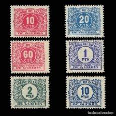 Sellos: SELLOS. ESPAÑA. GUERRA CIVIL. 1938. RECARGO TRANSITORIO DE GUERRA.6 VALORES.NUEVO*. Lote 161617294