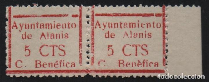 LANIS--SEVILLA- 5 CTS, PAREJA, VER FOTO (Sellos - España - Guerra Civil - De 1.936 a 1.939 - Usados)