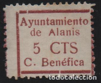 ALANIS--SEVILLA- 5 CTS, VER FOTO (Sellos - España - Guerra Civil - De 1.936 a 1.939 - Usados)