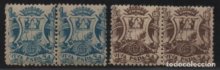 GRANADA, 1 CTS,+ 5 CTS, EN PAREJAS, VER FOTO (Sellos - España - Guerra Civil - De 1.936 a 1.939 - Usados)
