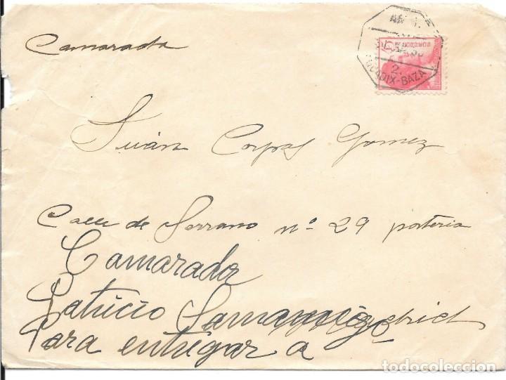GUERRA CIVIL. EDIFIL Nº 752. SOBRE CIRCULADO DE GRANADA A MADRID. 1938. (Sellos - España - Guerra Civil - De 1.936 a 1.939 - Cartas)