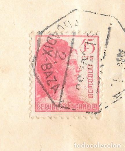 Sellos: GUERRA CIVIL. EDIFIL Nº 752. SOBRE CIRCULADO DE GRANADA A MADRID. 1938. - Foto 2 - 161709458