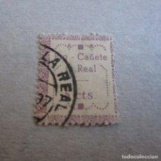 Sellos: MÁLAGA CAÑETE LA REAL, FESOFI Nº 4 , MATASELLADO 1937. Lote 161920314