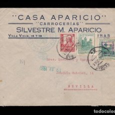 Sellos: *** CARTA ALGECIRAS-SEVILLA 1937. CENSURA MILITAR ALGECIRAS. LOCAL CADIZ + SOBRECARGA 18 JULIO ***. Lote 162095414
