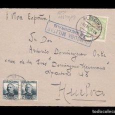 Sellos: *** FRONTAL ALGECIRAS-HUELVA 1937. CENSURA MILITAR ALGECIRAS (AZUL) ***. Lote 162099194