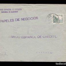 Sellos: *** CARTA ALGECIRAS-CÓRDOBA 1938. CENSURA CORRESPONDENCIA URGENTE - ALGECIRAS (VIOLETA) ***. Lote 162103370