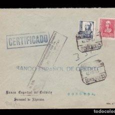 Sellos: * CARTA ALGECIRAS-CÓRDOBA 1939. CENSURA CORRESPONDENCIA URGENTE - ALGECIRAS (NEGRO NO CATALOGADO) *. Lote 162103966