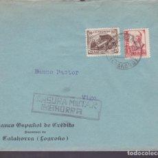 Sellos: CM1-4- GUERRA CIVIL. CALAHORRA (LOGROÑO) . 1937. CRUZADA CONTRA EL FRÍO Y CENSURA. Lote 171199682