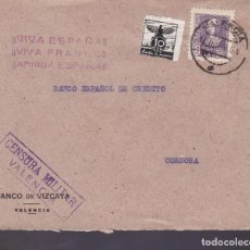 Sellos: CM1-5- GUERRA CIVIL. CARTA VALENCIA 1939. AUXILIO INVIERNO Y CENSURA . Lote 162120154