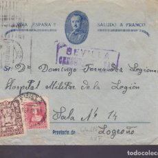 Sellos: CM1-6- GUERRA CIVIL.CARTA ILUSTRADA FRANCO SEVILLA 1938. LOCAL Y CENSURA . Lote 162120586