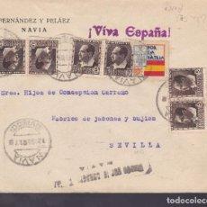 Sellos - CM1-8- Guerra Civil.Carta NAVIA (Oviedo) 1937. Local y Censura - 162121970