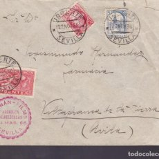 Sellos: CM1-9- GUERRA CIVIL.CARTA URGENTE SEVILLA 1936. LOCAL . Lote 162122082
