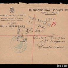 Sellos: ** CARTA CERT. VALLADOLID-PONTEVEDRA 1939. OFICINA DE EXPORTACIÓN FILATÉLICA Y CENSURA VALLADOLID **. Lote 162135322