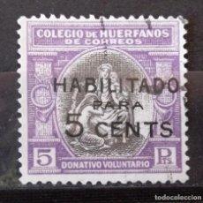 Sellos: BENEFICENCIA, HUÉRFANOS CORREOS, B8, USADO. ALEGORÍA.. Lote 162337966