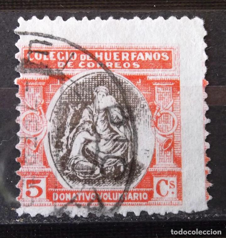 BENEFICENCIA, HUÉRFANOS CORREOS, B9, USADO. ALEGORÍA. (Sellos - España - Guerra Civil - Beneficencia)