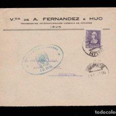 Sellos: *** CARTA IRUN (GUIPÚZCOA)-PONTEVEDRA 1939. CENSURA MILITAR IRUN AZUL ***. Lote 162348850