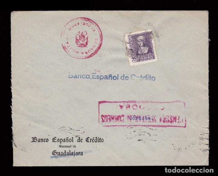 *** CARTA POZOBLANCO-CÓRDOBA 1939. CENSURA MILITAR POZOBLANCO + CENSURA CÓRDOBA *** (Sellos - España - Guerra Civil - De 1.936 a 1.939 - Cartas)