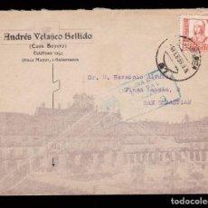 Sellos: *** CARTA PUBLICITARIA SALAMANCA-SAN SEBASTIÁN 1939. CENSURA MILITAR SALAMANCA Nº3 AZUL ***. Lote 162393902
