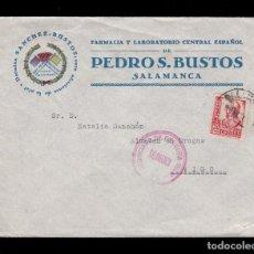 Sellos: *** CARTA SALAMANCA-VIGO 1937. NEGOCIADO DE CENSURA MILITAR - SALAMANCA (ROJO) ***. Lote 162480950