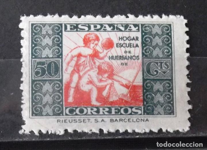 BENEFICENCIA, HUÉRFANOS CORREOS, 5, NUEVO, SIN CH. ALEGORÍA. (Sellos - España - Guerra Civil - Beneficencia)