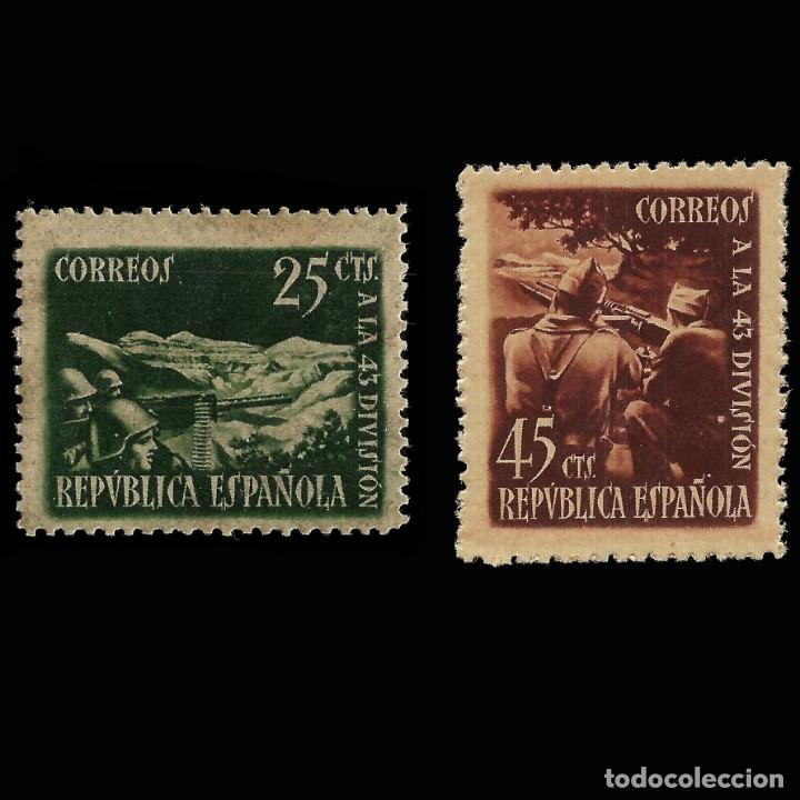 SELLOS. ESPAÑA 1938. HOMENAJE A LA 43 DIVISIÓN. SERIE 2 VALORES.NUEVO** EDIFIL. Nº787-788 (Sellos - España - Guerra Civil - De 1.936 a 1.939 - Nuevos)