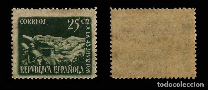 Sellos: Sellos. España 1938. Homenaje a la 43 División. Serie 2 valores.Nuevo** Edifil. Nº787-788 - Foto 2 - 162629982