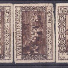 Sellos: SS11- VIÑETAS FOMENTO TURISMO TENERIFE (CANARIAS) X 3. Lote 162633642