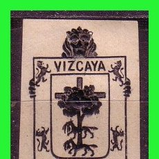 Sellos: VIÑETA, ESCUDO DE VIZCAYA, TINTA NEGRA *. Lote 163379882