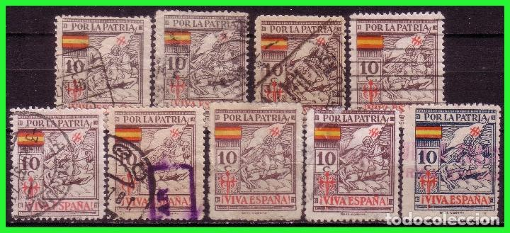 GUERRA CIVIL, SELLOS LOCALES, CORUÑA, CORUÑA, FESOFI Nº 1, 2 Y 5 A 11 (O) (Sellos - España - Guerra Civil - De 1.936 a 1.939 - Nuevos)