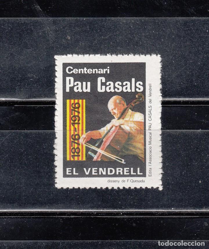 EL VENDRELL. CENTENARI PAU CASALS (Sellos - España - Guerra Civil - Viñetas - Nuevos)