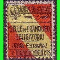 Sellos: GUERRA CIVIL, SELLOS LOCALES, GRANADA, GRANADA, FESOFI Nº 35 * *. Lote 163479878