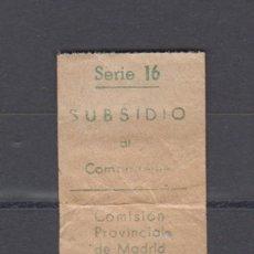 Sellos: MADRID. EDIFIL 10 * SUBSIDIO AL COMBATIENTE.. Lote 163672450